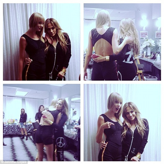 New BFFs? Jennifer shared pictures of herself backstage with Taylor Swift, saying: 'Thank you for inviting my family to be a part of yours @taylorswift13!!! #RedTourLA'