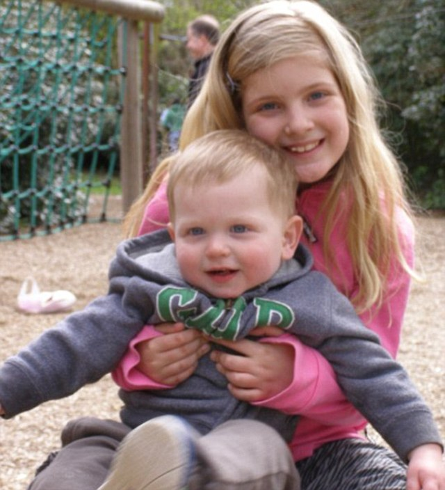 Jack with his older sister Elle: There is currently no specific law granting time off for bereavement