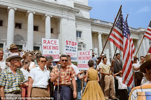 Stand out: The technique was applied to this racist protest in Little Rock, Arkansas in 1959