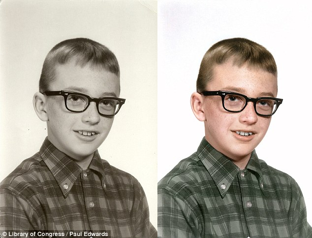 Restored: Formal portraits of children appear warmer when viewed in color