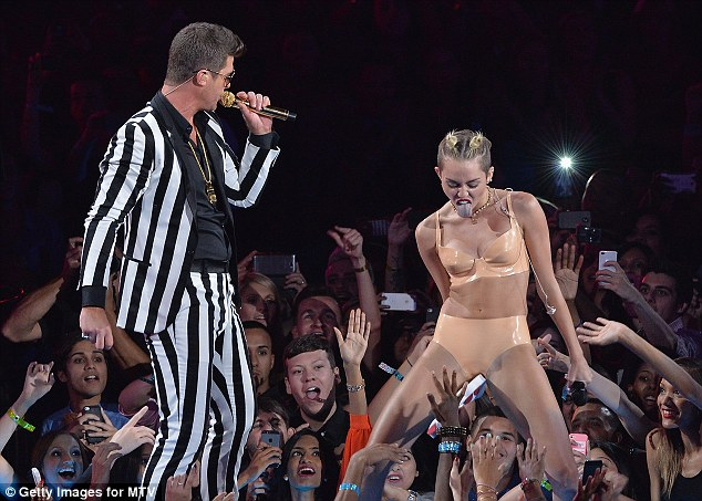 Intimate: Miley thrusted her crotch in the audiences' faces