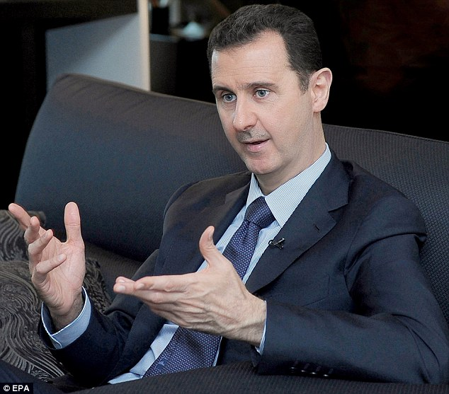 Warning: Dictator Bashar Al-Assad said that any U.S. intervention in Syria was doomed to end in failure during an interview with the Russian newspaper Izvestia in Damascus
