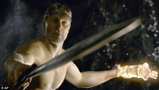 Epic: Archaeologists believe they have found the site where the Anglo-Saxon poem Beowulf was set; Ray Winstone is pictured in the 2007 Hollywood adaptation of the story