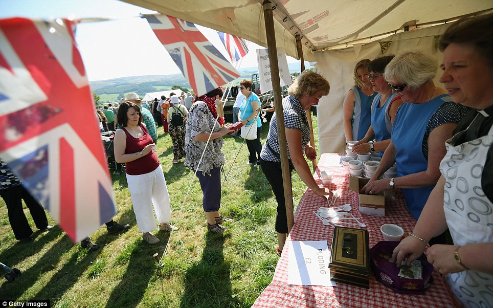 Today's sunny weather made the Aughton pudding festival all the more special for those who had waited 21 years for the event