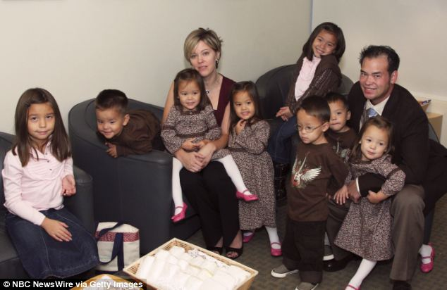Whole family: They starred in 'Jon & Kate Plus 8' with their eight children until their 2009 divorce