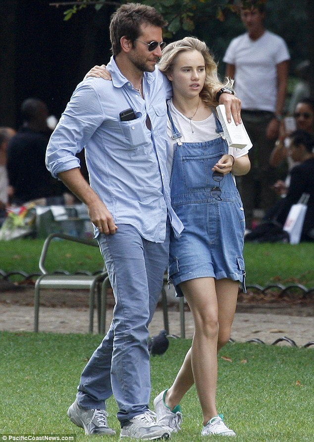Matching: Bradley and Suki both opted to wear denim outfits for their day out