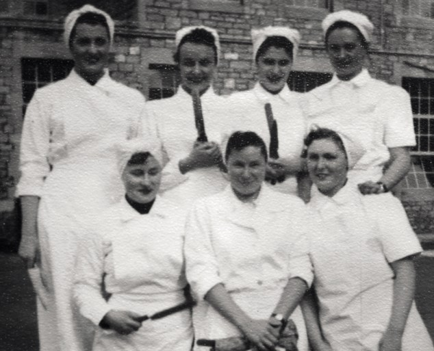 Kitchen classroom: Mary, far bottom right, thoroughly enjoyed her days studying Domestic Science at Bath College, before going on to working in a hotel kitchen