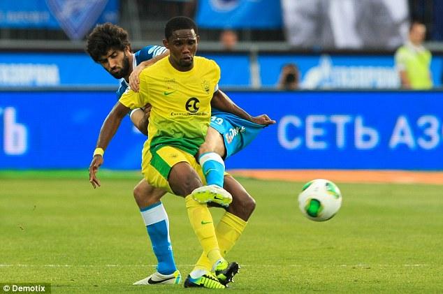 Chelsea bound: Samuel Eto'o may reunite with Jose Mourinho who managed him at Inter Milan