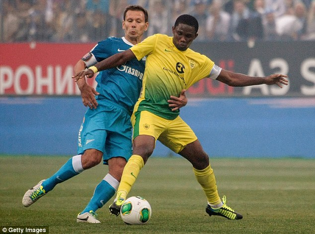 Forward power: Eto'o should complete his deal to Stamford Bridge in the next two days