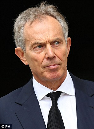 Call to arms: Tony Blair today urged David Cameron to back military intervention in Syria to avoid a 'nightmare scenario' for the West in the Middle East