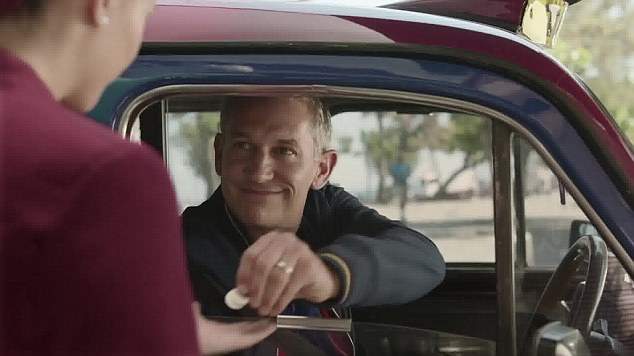 What's he up to? Gary Lineker features in Barcelona's new television commercial for Qatar Airways