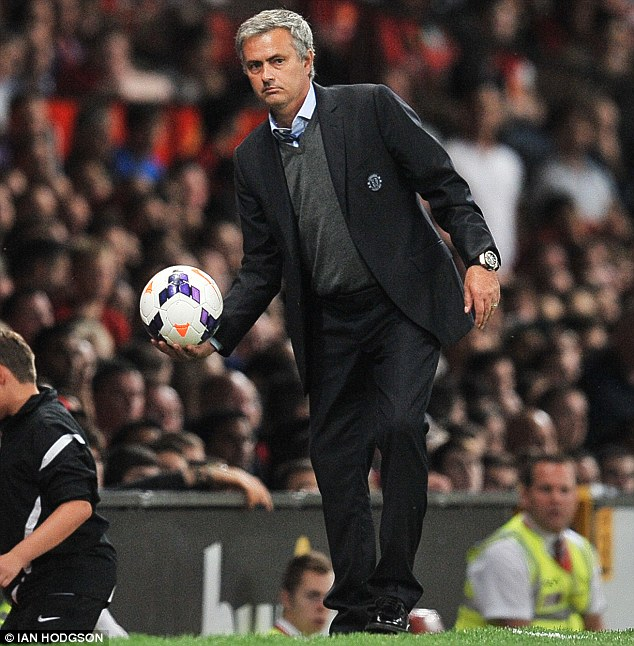 Getting the ball rolling: Mourinho is already beginning to alienate some of his Chelsea players