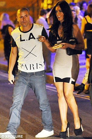 Vicki Pattison steps out with TOWIE star Charlie Sims (left) and Natasha Hamilton's estranged husband Riad Erraji