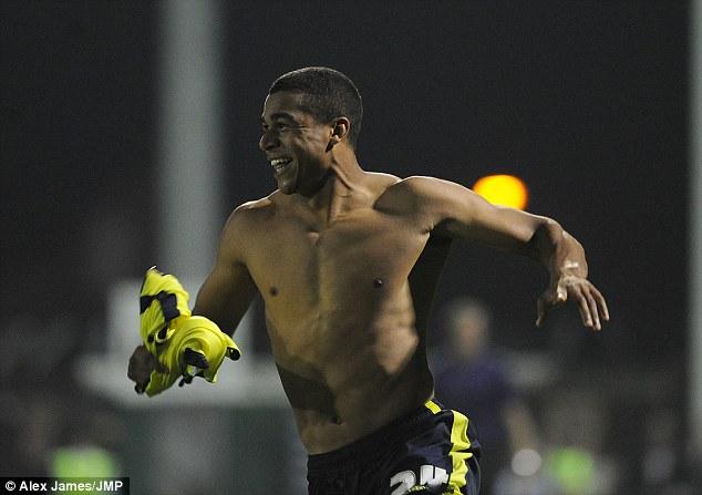 Retribution? Birmingham's Tom Adeyemi celebrates after scoring the winning penalty
