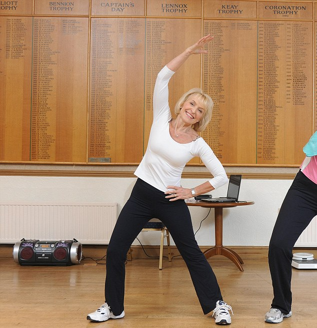 Rosemarie Conley in one of her fitness classes at the Birstall Golf Club, Leciestershire. The Mail has learned that dozens of women who paid thousands of pounds to join the Conley brand have quit due to the vast costs that come with it