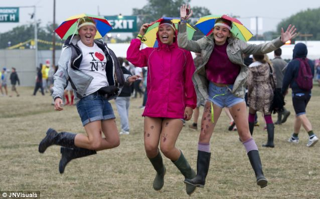Rain stop play? British music festivals - notoriously damp - might benefit from the new technology, though these Reading veterans don't seem to mind