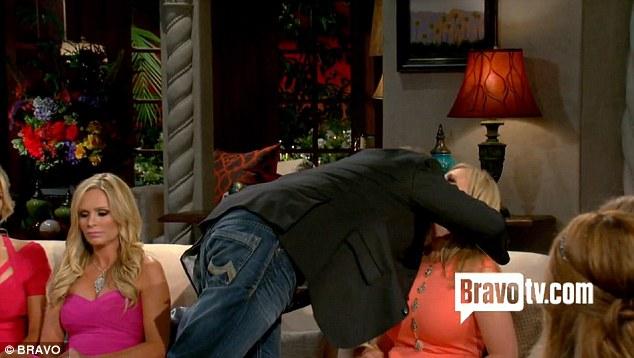 Final embrace: Brooks gives Vicki one last kiss