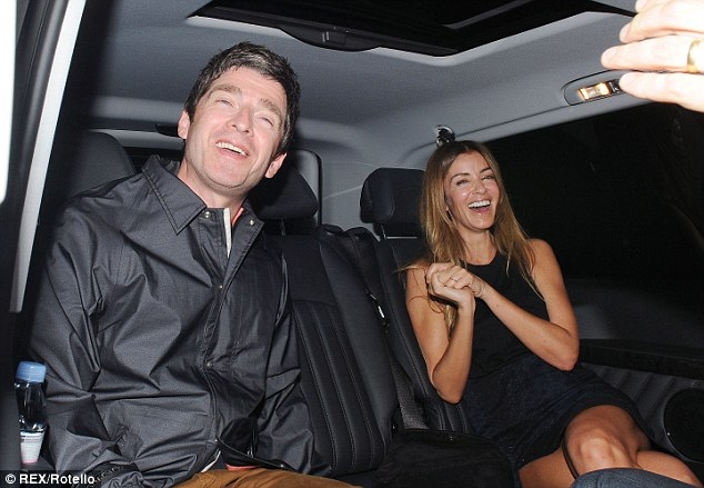 Smiles: The pair seemed in high spirits as they spent some quality time together