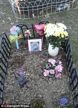 Ruby's memorial garden is pictured