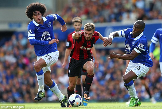 Target: Marouane Fellaini is also wanted by United as Moyes seeks a big first signing for the champions