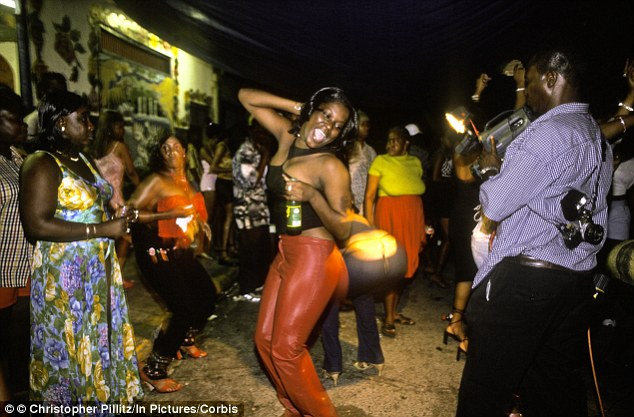 Old skool: A Kingston Jamaica dance hall in 1999, before the twerking movement went mainstream