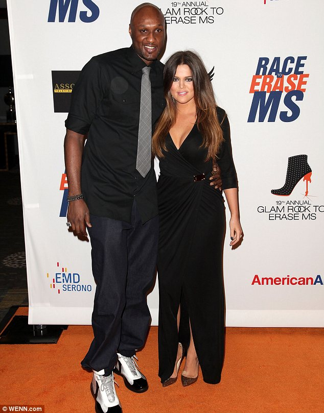 Going through a tough time: Khloe and Lamar, pictured in May 2012, have been married since 2009