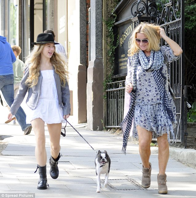 Shopping: The mother and daughter stopped by the Zadig & Voltaire shop in North London