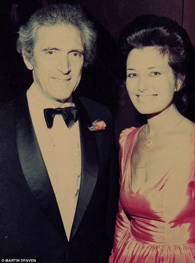 Second time lucky: Jeannette with her late husband Jacques