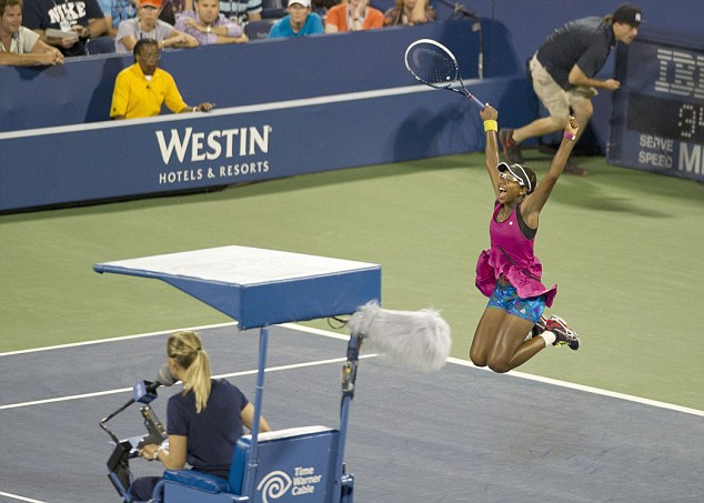 I believe I can fly: Duval jumps for joy after beating Sam Stosur
