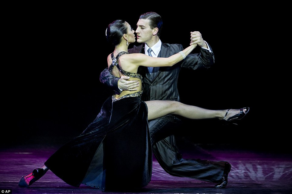 Masterclass: Dancers Guido Palacios, right, and Florencia Castilla, from Argentina, perform to win the 2013 Tango Dance World Cup stage finals