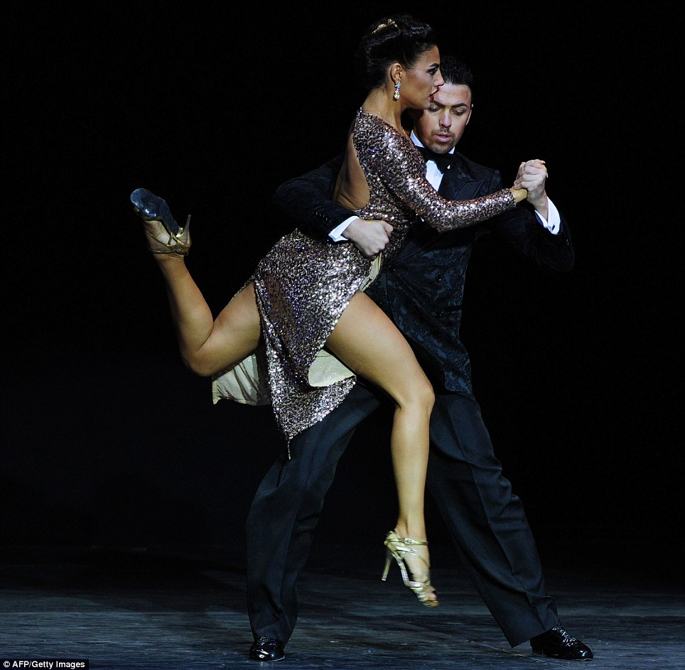 Russia's Dmitry Vasin and Esmer Omerova were voted best foreing couple during the Stage Tango competition