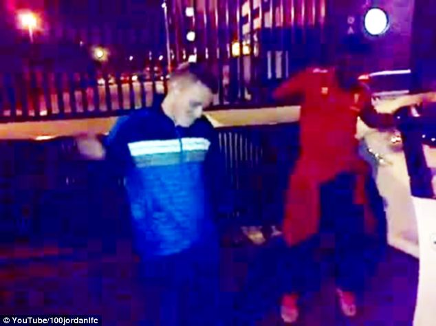 Getting down: The Liverpool striker shows off his moves