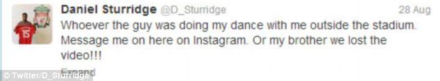 Sturridge was keen to watch his performance with Jordan