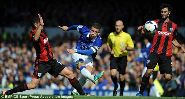 Strong: Ross Barkley has flown out of the traps this season, earning a full England call-up
