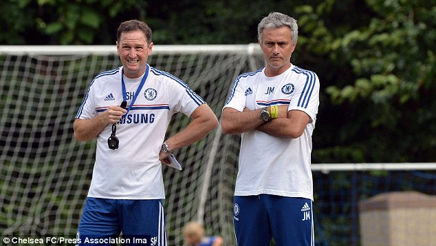 Assist: Chelsea's Steve Holland will help Southgate with the Under-21s