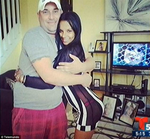 Questions: Perez, pictured with her father, paid around half the price of a typical breast implant surgery