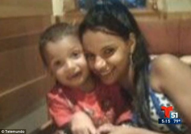 Changed roles: Now Linda's parents are considering filing to be considered the legal guardians of both their 19-year-old daughter (right) and her now-4-year-old son (left) since she can no longer care for herself or the boy