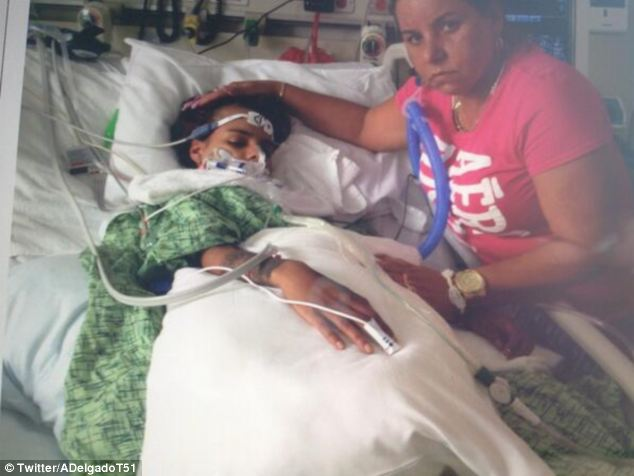 Serious: Linda Perez was in a coma for two months after the August 2013 cosmetic surgery and still has not recovered fully as her doctors fear that she may have permanent brain and heart damage