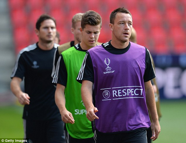 From the front: Chelsea captain John Terry during training