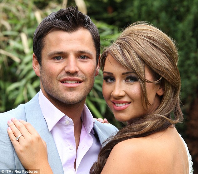 Former flame: Lauren was engaged to marry fellow TOWIE star Mark Wright but the relationship didn't work out