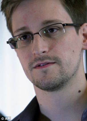 Secret: Mr Greenwald helped US whistle blower Edward Snowden reveal details of the work of  US National Security Agency