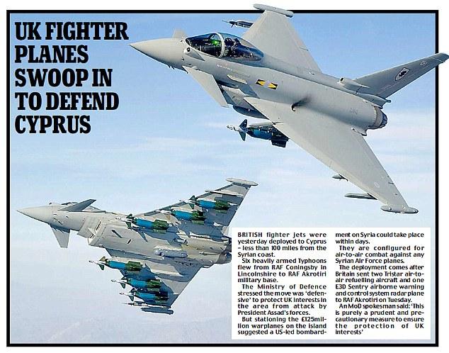 UK fighter planes swoop in to defend Cyprus