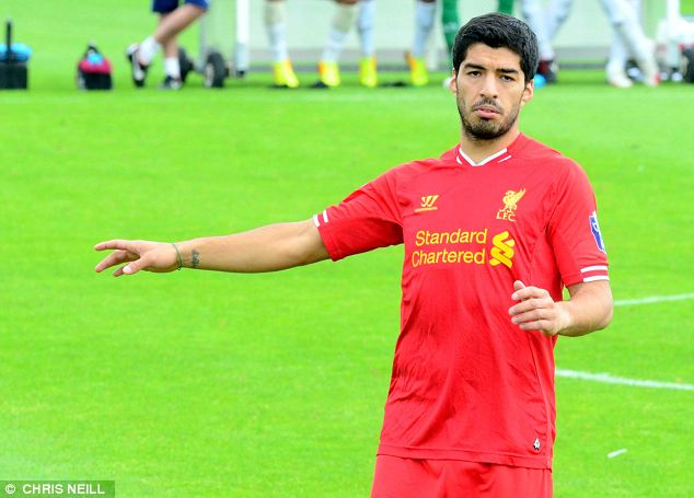 Back in action: Luis Suarez could return for Liverpool in the Capital One Cup after his ban