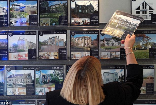 Rising higher: House prices continued to rise on a quarterly basis, suggesting a continuing strengthening in the market