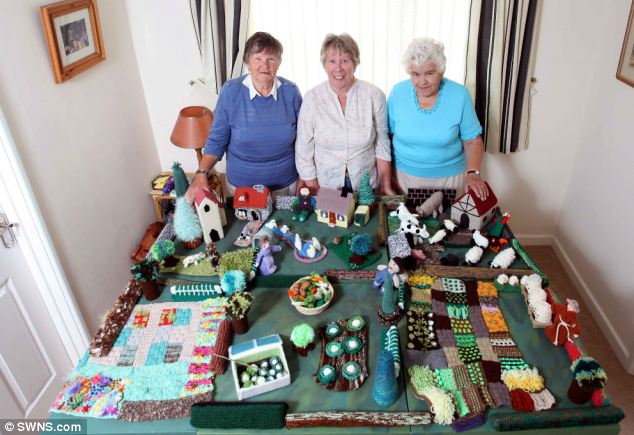 The ladies were disappointed when several children's hospitals and hospices turned away their miniature village for fears it was a health hazard