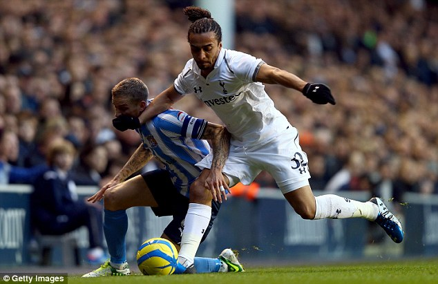 Frozen out: Assou-Ekotto is a fans' favourite at Spurs but has lost his place to Danny Rose