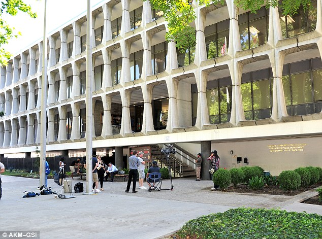 Van Nuys police station: Lamar was kept in custody for several hours before being released after posting $15,000