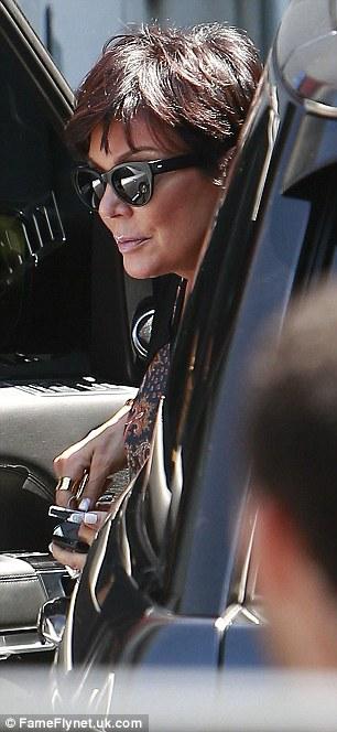 Talk show host Kris Jenner heads to a studio in Burbank