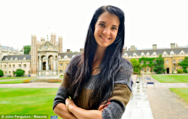 Dreaming spires: Lilly Brown, the 27-year-old who has become the first Aboriginal to graduate from the University of Cambridge