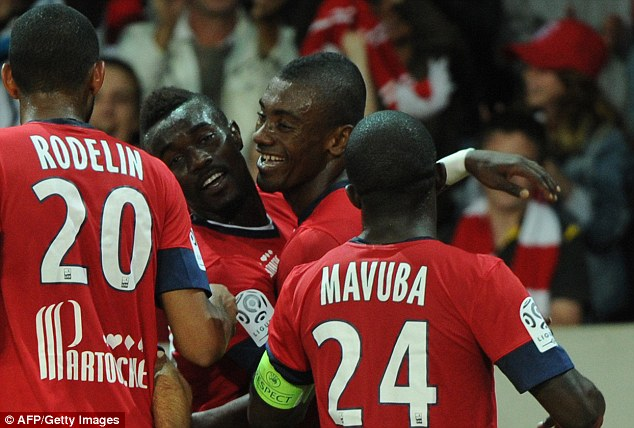 London calling? Kalou (second right) joined Lille from Chelsea last summer